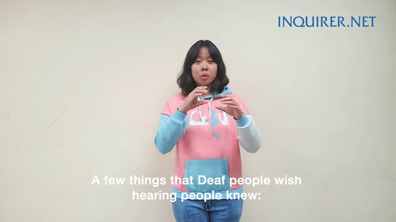 What the Deaf want the hearing to know