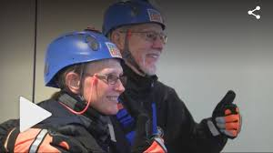 Deaf Couple rappels over the edge in State College