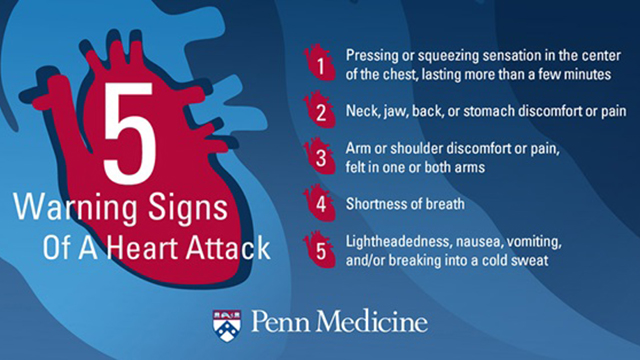 5 Warning Signs of a Heart Attack